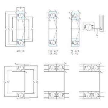 110 mm x 150 mm x 20 mm  SKF 71922 ACD/P4A angular contact ball bearings