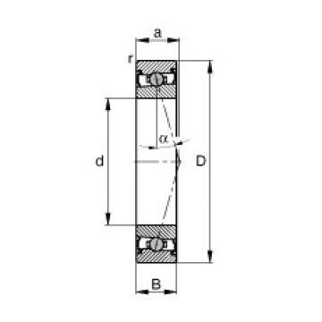 110 mm x 150 mm x 20 mm  FAG HCS71922-C-T-P4S angular contact ball bearings