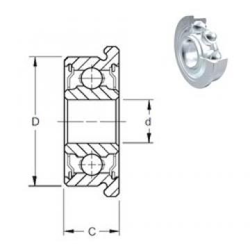 5 mm x 13 mm x 4 mm  ZEN F695-2Z deep groove ball bearings