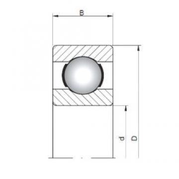 5 mm x 13 mm x 4 mm  Loyal 619/5 deep groove ball bearings