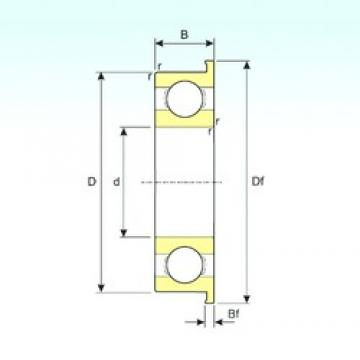 5 mm x 13 mm x 4 mm  ISB F695 deep groove ball bearings