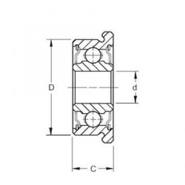 5 mm x 13 mm x 4 mm  ZEN F695-2RS deep groove ball bearings