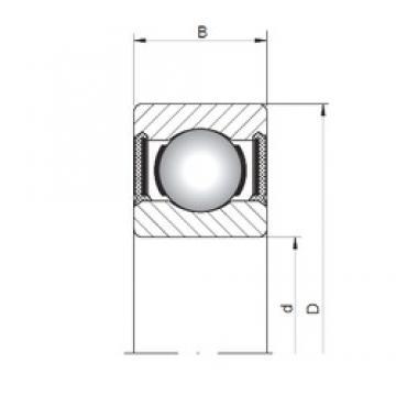 5 mm x 13 mm x 4 mm  Loyal 619/5-2RS deep groove ball bearings