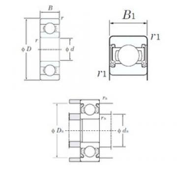 5 mm x 13 mm x 4 mm  KOYO 695-2RD deep groove ball bearings
