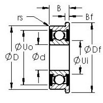 AST F695H-2RS deep groove ball bearings
