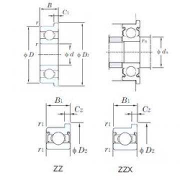 5 mm x 13 mm x 4 mm  KOYO F695ZZ deep groove ball bearings