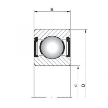 5 mm x 13 mm x 4 mm  ISO 619/5 ZZ deep groove ball bearings