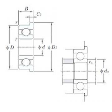 5 mm x 13 mm x 4 mm  KOYO F695 deep groove ball bearings