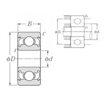 5 mm x 13 mm x 4 mm  NTN 695ZZ deep groove ball bearings