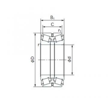 NACHI 140KBE031 tapered roller bearings