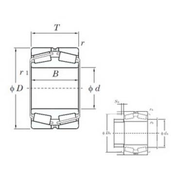 140 mm x 225 mm x 68 mm  KOYO 45328 tapered roller bearings
