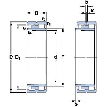 240 mm x 320 mm x 80 mm  SKF NNU 4948 BK/SPW33 cylindrical roller bearings