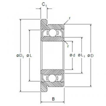 5 mm x 13 mm x 4 mm  NMB RF-1350ZZ deep groove ball bearings