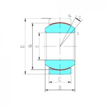 45 mm x 68 mm x 32 mm  LS GE45ET-2RS plain bearings
