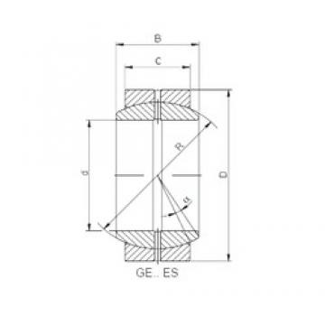 80 mm x 120 mm x 55 mm  Loyal GE 080 ES plain bearings