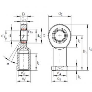 80 mm x 120 mm x 55 mm  INA GIR 80 UK-2RS plain bearings
