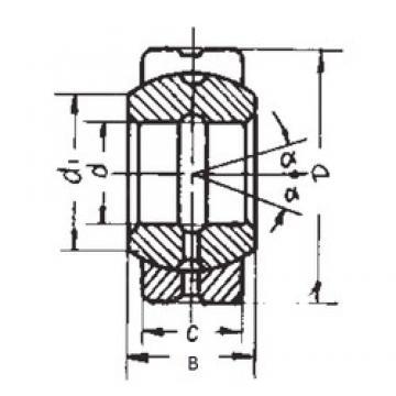 80 mm x 120 mm x 55 mm  FBJ GE80ES plain bearings