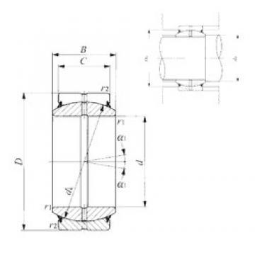 80 mm x 120 mm x 55 mm  IKO GE 80ES-2RS plain bearings