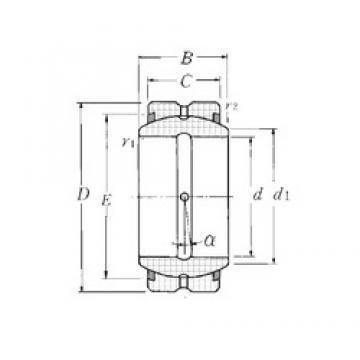 45 mm x 68 mm x 32 mm  NTN SA1-45BSS plain bearings