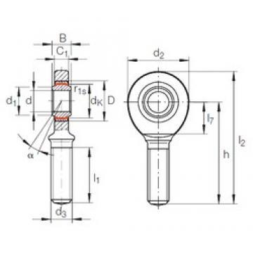 45 mm x 68 mm x 32 mm  INA GAR 45 UK-2RS plain bearings