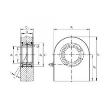 80 mm x 120 mm x 55 mm  INA GF 80 DO plain bearings