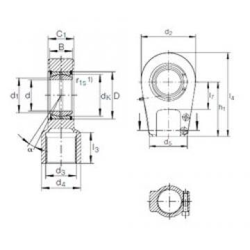 80 mm x 120 mm x 55 mm  INA GIHRK 80 DO plain bearings